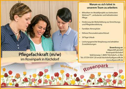Stellenanzeige Facebook Rosenpark